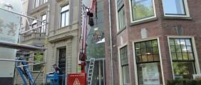 Plaatsen glas Douane en belastingmuseum te Rotterdam